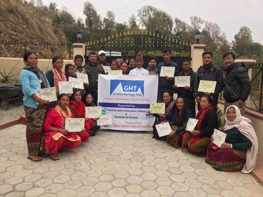 An einem zweitägigen Training zum Thema Tourismus nahmen 22 Gastgeber des Gorkha…